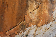 Crack in the rock Royalty Free Stock Photography