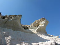 Crack rock on the coast of Cyprus Royalty Free Stock Image