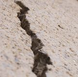 Crack Series. Crack in concrete, part of a series stock images