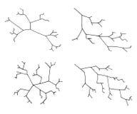 Crack set. vector illustration hand drawing Stock Images
