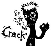 Crack smoke Royalty Free Stock Photography
