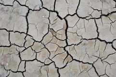 Crack soil. On dry season, Global worming effect royalty free stock image