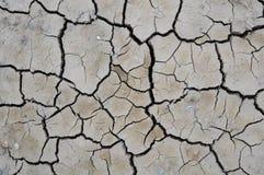 Crack soil. On dry season, Global worming effect Royalty Free Stock Image