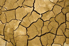 Crack soil. On dry season, Global worming effect stock images