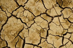 Crack soil. On dry season, Global worming effect royalty free stock images