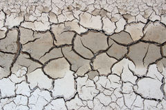 Crack soil on dry season Royalty Free Stock Photo