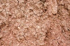 Crack soil on dry season, Effect of Global worming Royalty Free Stock Images