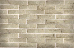 Crack stone brick wall Stock Image