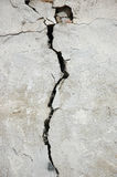 Crack in the stone wall.  Stock Images