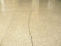 Crack of Terrazzo floor Stock Photo
