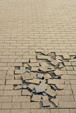 Crack tile ground Royalty Free Stock Photography