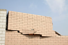 Crack in tile wall Royalty Free Stock Images