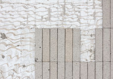 Crack tile wall background Stock Images