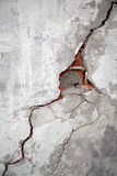 Crack on a wall. Of an old building Royalty Free Stock Photo