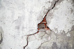 Crack on a wall. Of an old building Royalty Free Stock Image