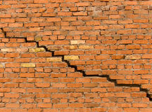 Crack in a wall from a brick Stock Photography