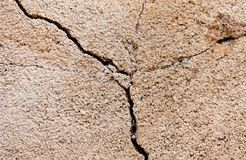 Crack in a wall Royalty Free Stock Photography