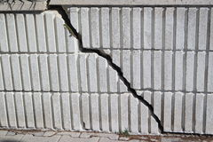 Crack in a wall Royalty Free Stock Image
