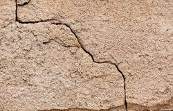 Crack in a wall Stock Images