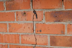 Crack on the wall Royalty Free Stock Images