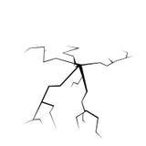 Crack on white illustration Royalty Free Stock Photo