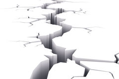 Crack in white surface Stock Image