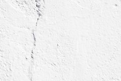 Crack in a white wall stock photos