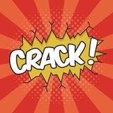 CRACK! Wording Sound Effect. For comic speech bubble Royalty Free Stock Photos