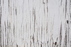 Cracked aged surface white painted wooden texture background Royalty Free Stock Image