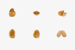 Cracked Almond Shells Royalty Free Stock Photos