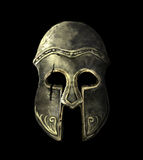 Cracked Ancient Spartan helmet Royalty Free Stock Images