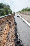 Cracked asphalt road Stock Images