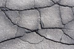Cracked asphalt Royalty Free Stock Photography