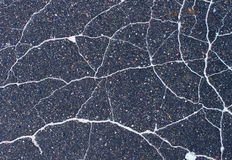 Cracked asphalt texture Stock Image