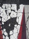 Cracked asphalt texture Stock Photography