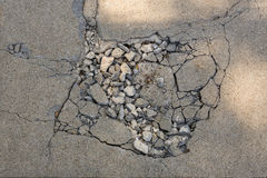 Cracked asphalt texture Royalty Free Stock Photos