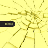 Cracked background. 3d  illustration. Stock Images