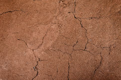 Cracked and barren ground,dry soil textured background,form of soil layers Stock Photo