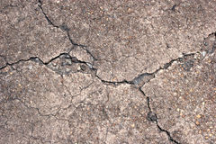 cracked betong Royaltyfri Foto