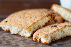 Cracked biscuits close-up Royalty Free Stock Image