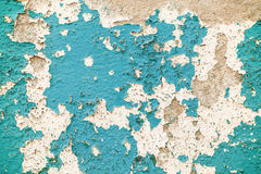 Cracked blue concrete vintage wall background. Stock Photos
