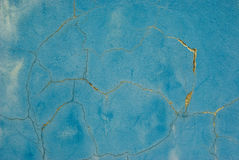 Cracked blue concrete wall background Royalty Free Stock Photography