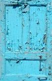 Cracked blue door Royalty Free Stock Photo