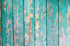 Cracked paint on the wood wall texture stock images