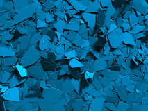 Cracked blue shiny demolition broken surface background Royalty Free Stock Photography