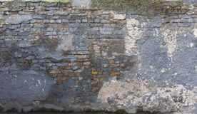 Cracked blue wall Stock Photography