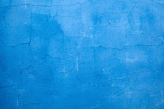 Cracked blue wall paint Royalty Free Stock Photo