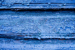 Cracked blue wooden wall Royalty Free Stock Images
