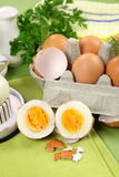 Cracked Boiled Eggs Stock Images