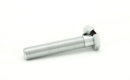 Cracked bolt. Clipped, white clean background royalty free stock photo